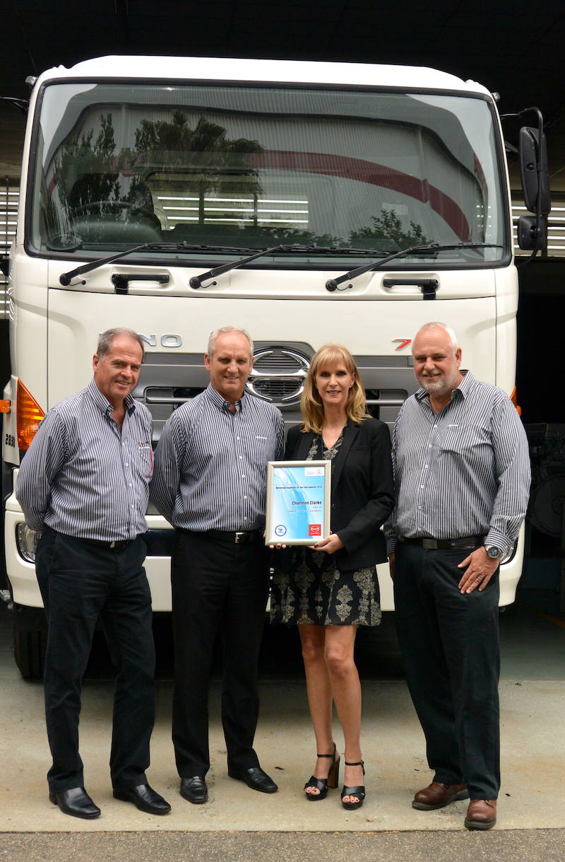 CHARLEEN CLARKE WINS HINO COMMERCIAL VEHICLE JOURNALIST OF THE YEAR AWARD