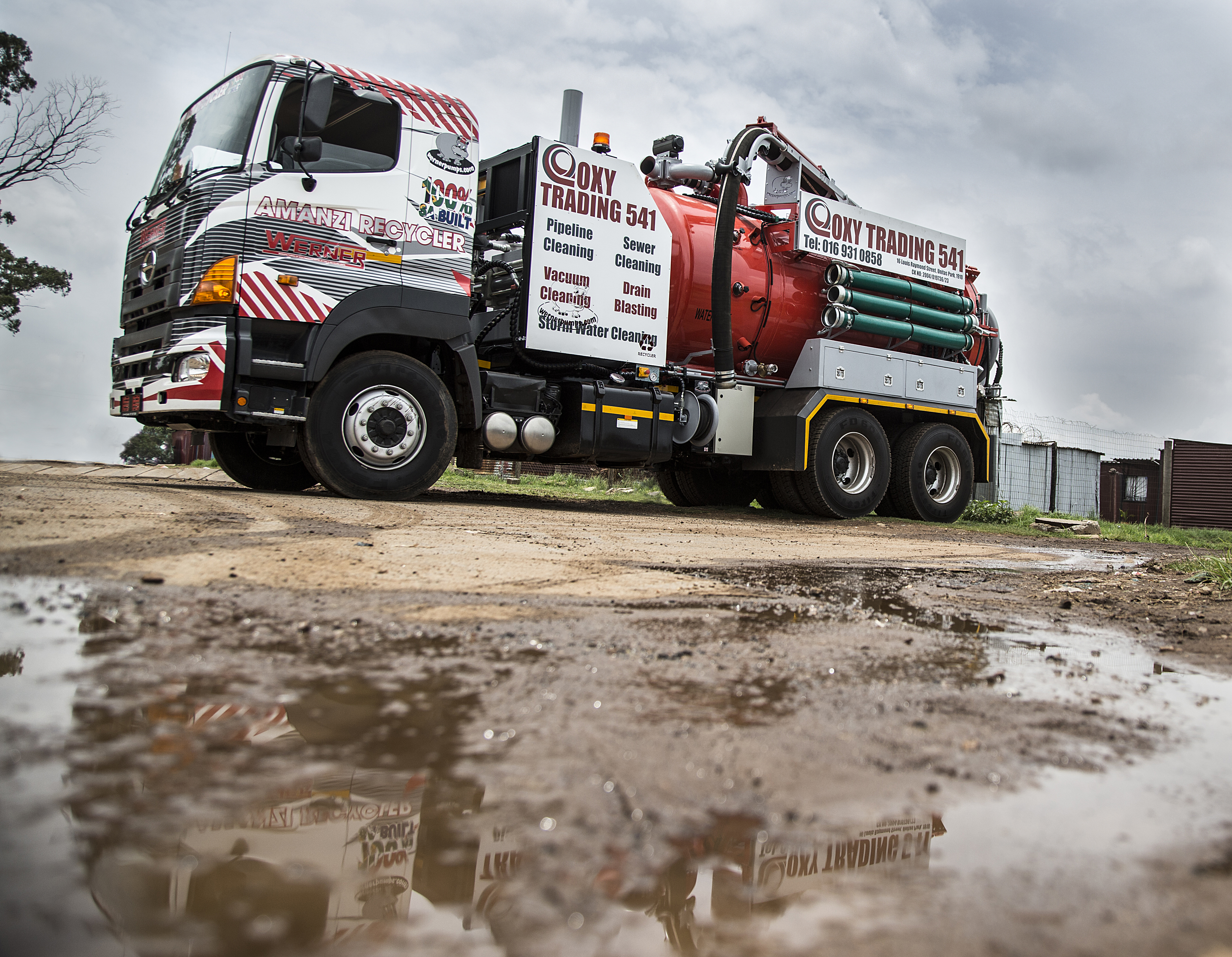 HINO AND WERNER PUMPS CREATE SA'S FIRST WORKING WATER RECYCLING TRUCK